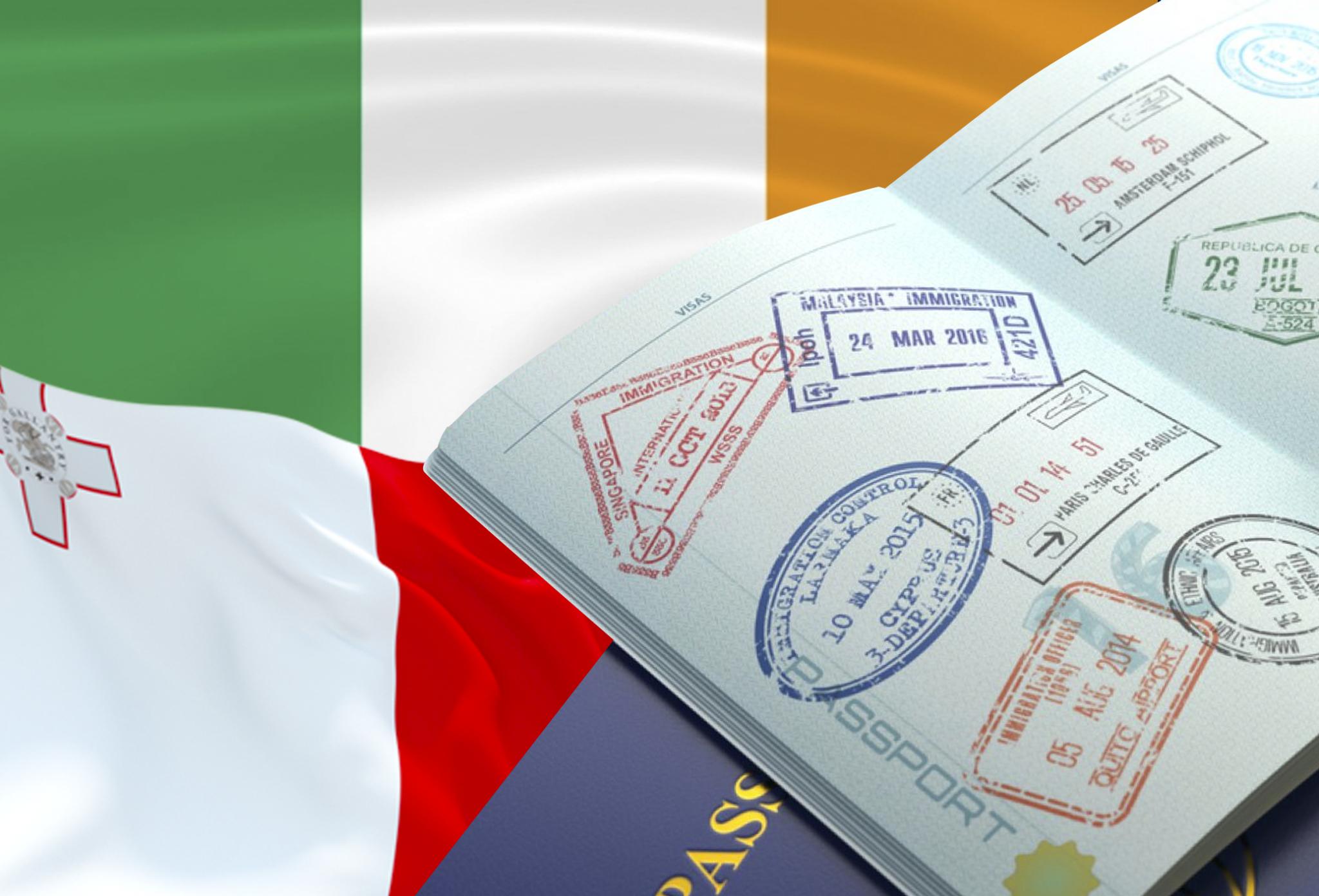 Как получить визу в Ирландию инаМальту